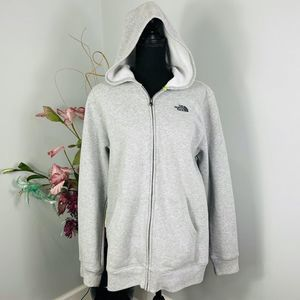 The North Face Gray Full Zip Fleece Hoodie Boys XL